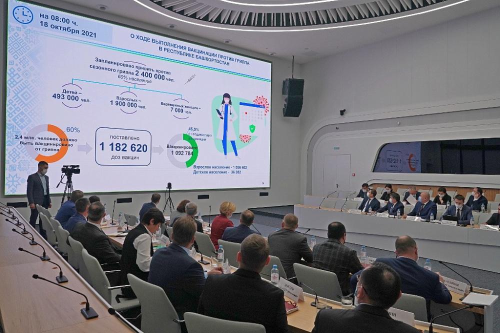 Радий Хабиров провел заседание оперштаба по недопущению распространения коронавируса